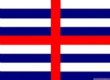 STRIPED ENSIGN (BLUE & WHITE) - 5 X 3 FLAG